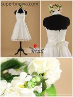 A-line Short Lace Real Photo Wedding Dress Reception Bridal Dresses BDS0451