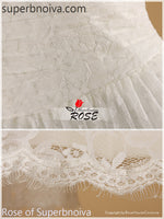 V-neck Short Real Photo Lace Wedding Dress Reception Bridal Dresses BDS0454