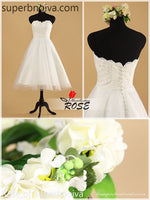 Sweetheart Short Real Photo Wedding Dress Reception Bridal Dresses BDS0455