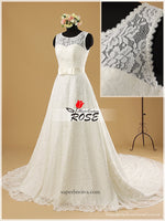 Real Photo Lace A-line Wedding Dress Cocktail Train Bridal Dresses Vestidos de Novia BDS0478