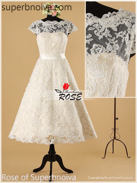 Short Real Photo Lace Wedding Dress Reception Bridal Dresses BDS0456