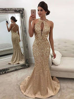 Fashion Backless Mermaid Full Beaded Long Prom Dress Wedding Party Dress Formal Dress PDS0460