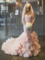 Mermaid Wedding Dress ,Bridal Dress , Bride Wear, Custom Made Dress For Wedding BDS0693
