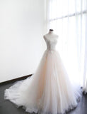 Appliqued Ball Gown Wedding Dress , Popular Bridal Dress ,  BDS0277