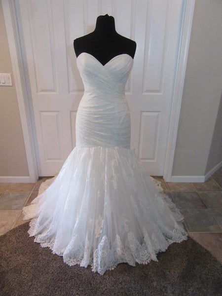 Sweetheart Mermaid Lace Wedding Dress ,Popular Bridal Dress With Appliques BDS0128