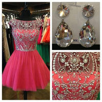 Fashion Beading Homecoming Dress,Short Prom Dress PDS0017