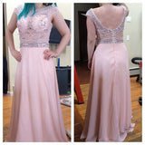 Backless Beading Chiffon Long Prom Dress ,Popular Wedding Party Dress,Cocktail Dress, PDS0325