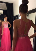A-line Long Prom Dress With Beading,Popular Wedding Party Dress,Cocktail Dress, PDS0355