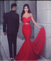 Red  Mermaid Long Prom Dress,Popular Real Photo Wedding Party Dress,Fashion Evening Dresses PDS0220