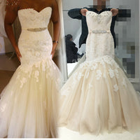 Sweetheart Mermaid Wedding Dress,Popular Bridal Dress With Appliques and Beading  BDS0144