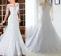 Mermaid Wedding Dress,Popular Bridal Dress With Appliques and Beading BDS0138