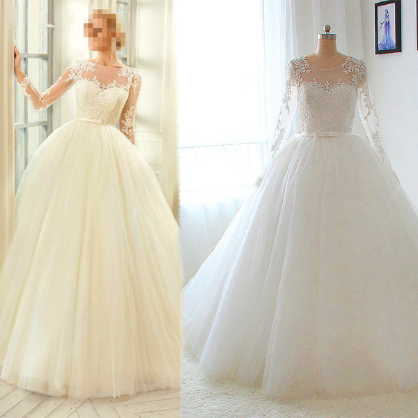 Fashion Ball Gown Wedding Dress,Popular Bridal Dress With Applique BDS0139