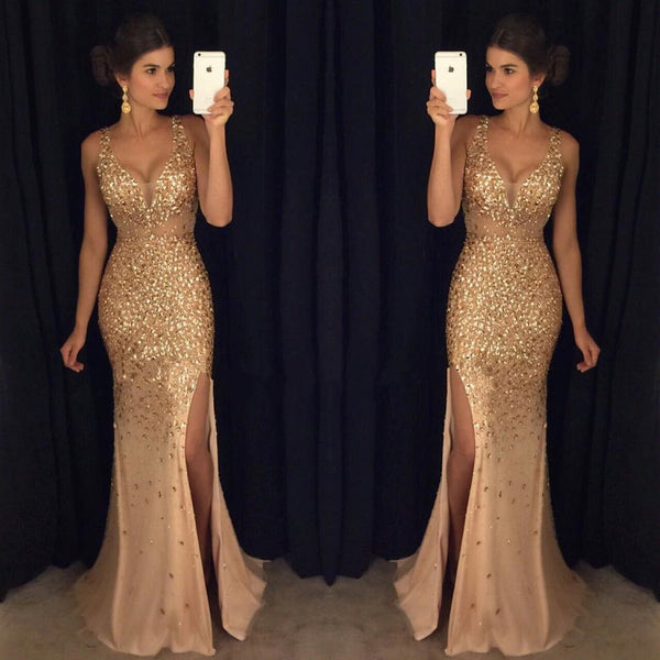 7c930ecd11426 ... Sex Full Beaded Long Prom Dress 2018 Wedding Party Dress Formal Evening  Gowns PDS0433 ...