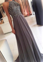 New Coming Prom Dress Halter Neckline,Evening Party Dress, Ball Dress,Back to School Dress For Teens PDS0556