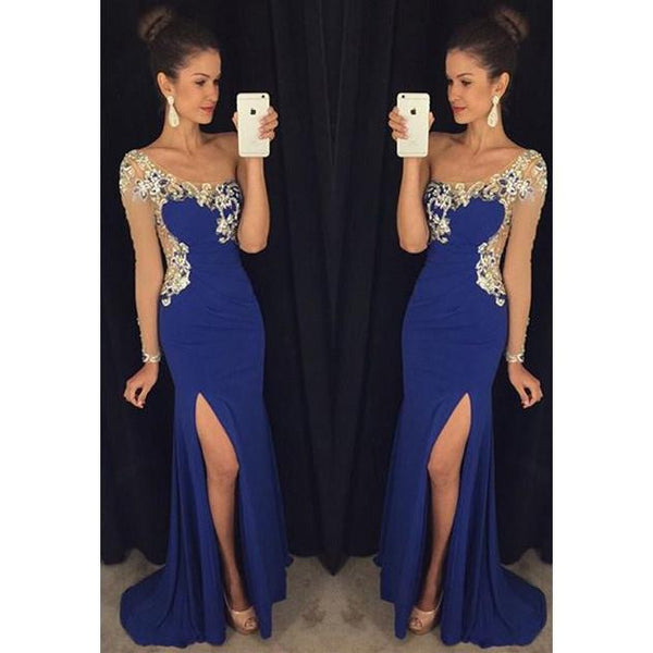 One Sleeve Long Prom Dress,Beading Wedding Party Dress,Popular Cocktail Dress,Fashion Evening Dress PDS0018