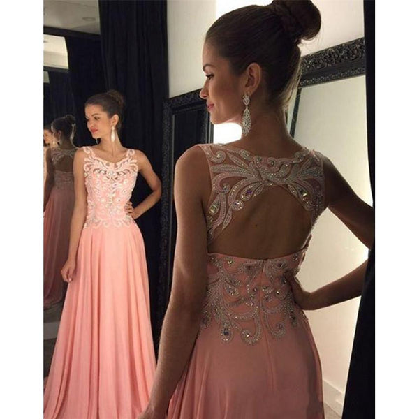 Backless Long Prom Dress,Beading Wedding Party Dress,Popular Cocktail Dress,Fashion Evening Dress PDS0019