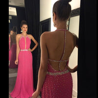 Backless Long Prom Dress,Beading Wedding Party Dress,Popular Cocktail Dress,Fashion Evening Dress PDS0020