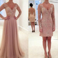 2 in 1 Colored Wedding Dress,Fashion Bridal Dresses with Applique And Beading  SN0626
