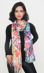 """Why so pink hue?"" Long Shawl - SMHDGalleries"