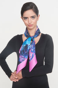 """The Mantra"" Silk Foulard Scarf - SMHDGalleries"