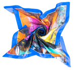 """Heathens"" Silk Foulard Scarf - SMHDGalleries"