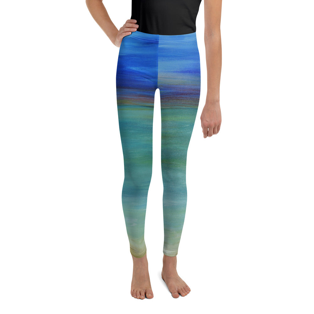 """misty ocean"" Youth Leggings - SMHDGalleries"