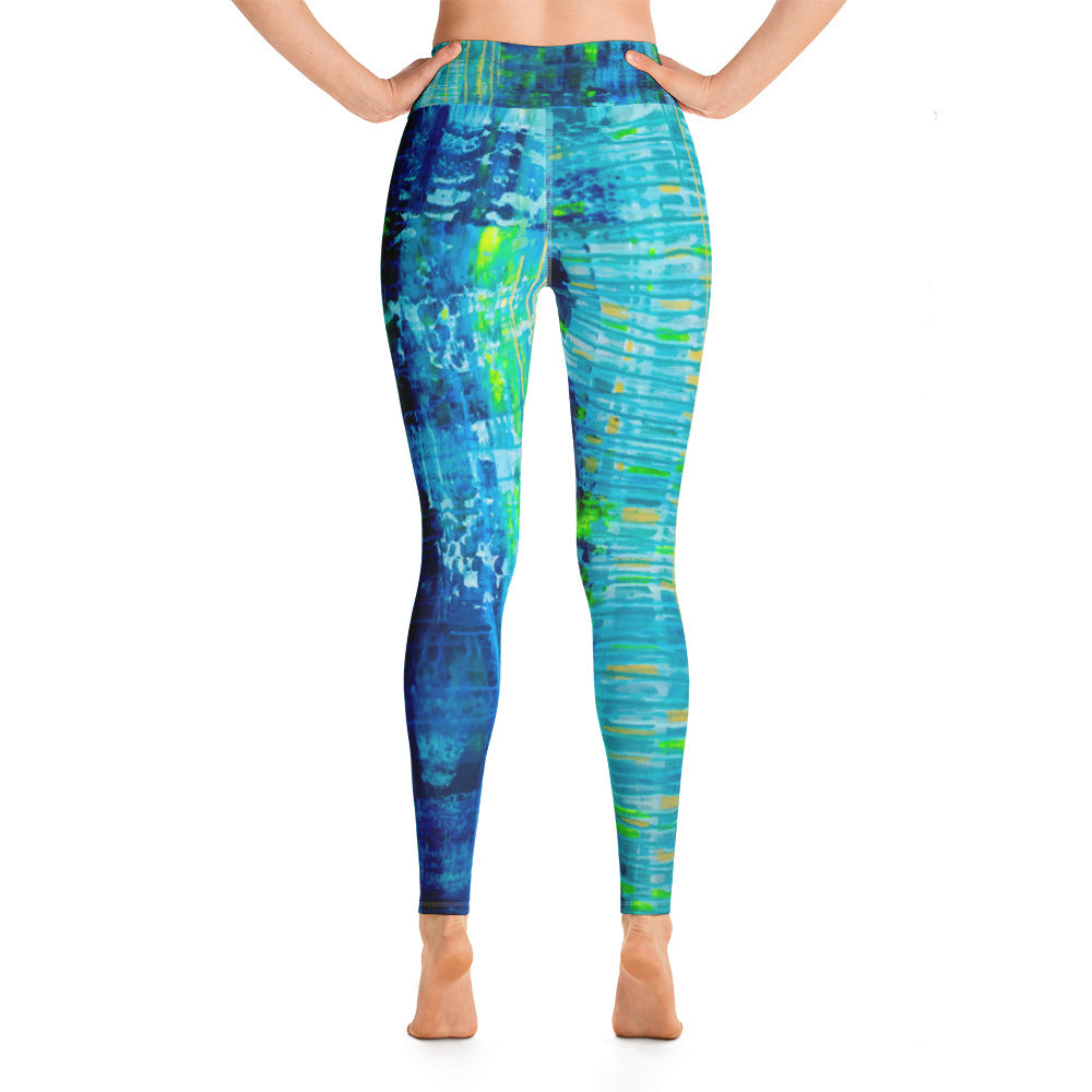 """Glitch"" High Waisted Yoga Leggings - SMHDGalleries"