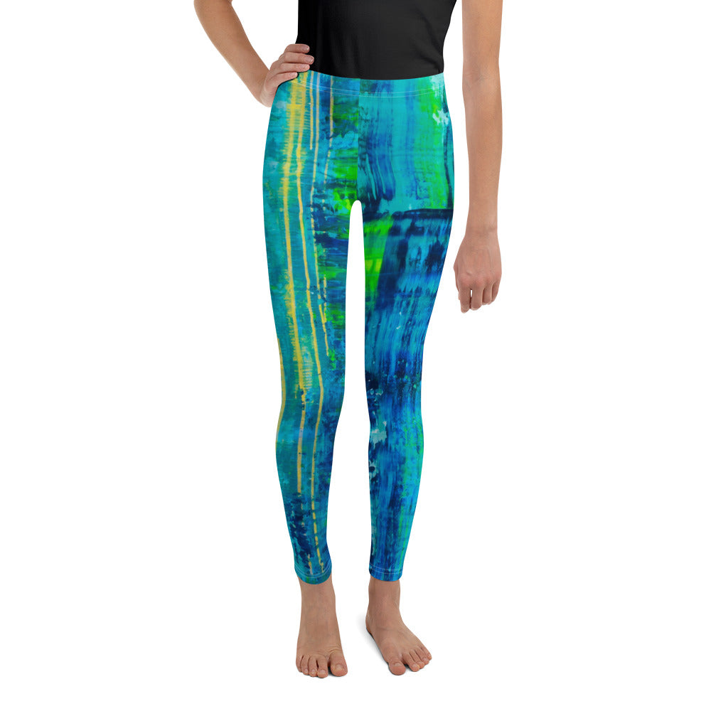 """Glitch"" Youth Leggings - SMHDGalleries"