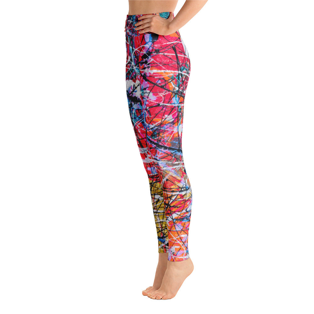 """WHY sO pink hue"" High Waisted Yoga Leggings - SMHDGalleries"