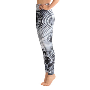 """french kiss"" High Waisted Yoga Leggings - SMHDGalleries"