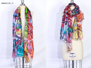 """Why so pink hue"" Long Shawl - Made in Italy Art Scarf - SMHDGalleries"
