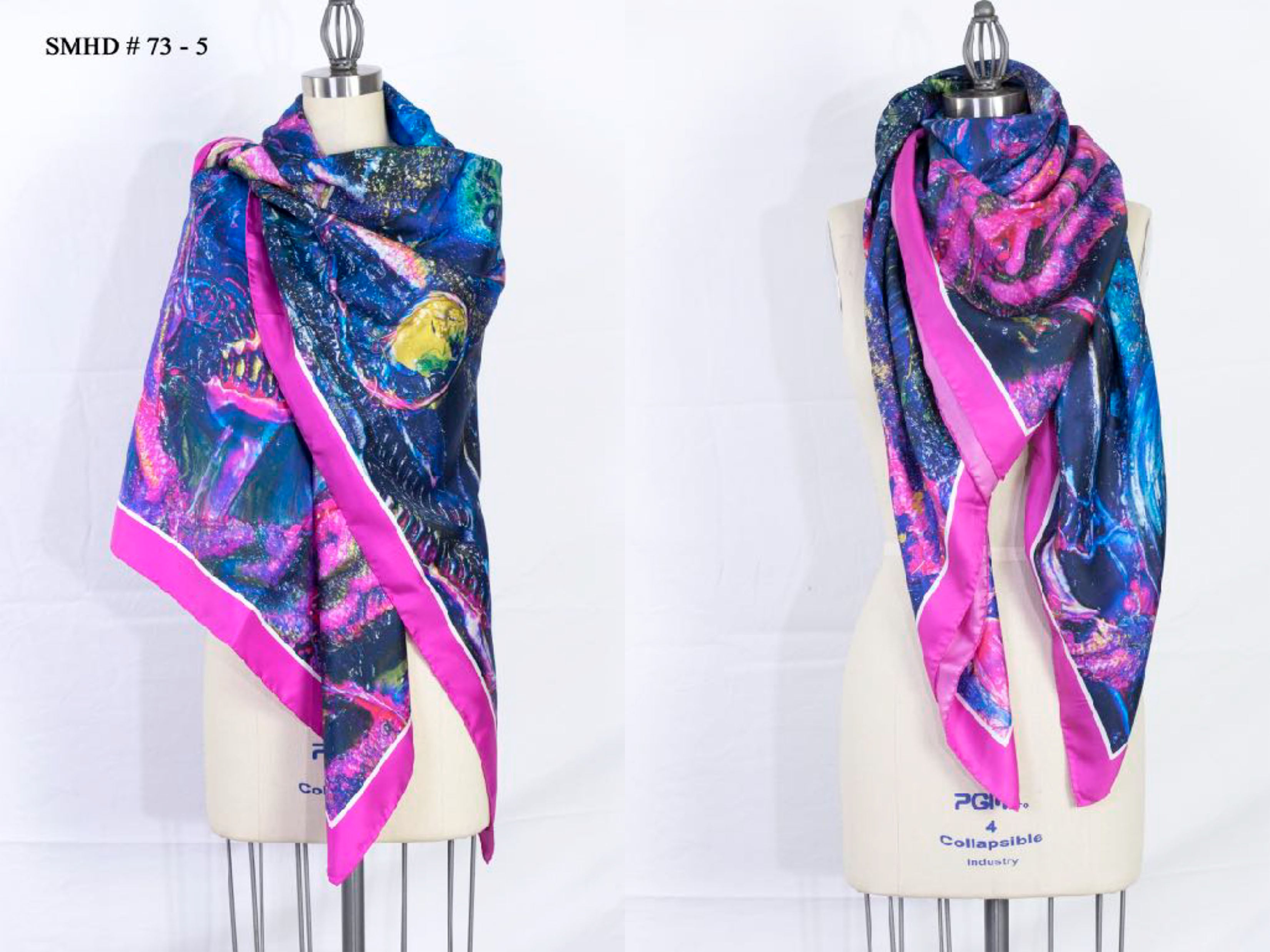 """The Mantra"" Stola - Made in Italy Silk Art Scarf - SMHDGalleries"