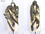 """stop hunting me"" Stola - Made in Italy Silk Art Scarf - SMHDGalleries"