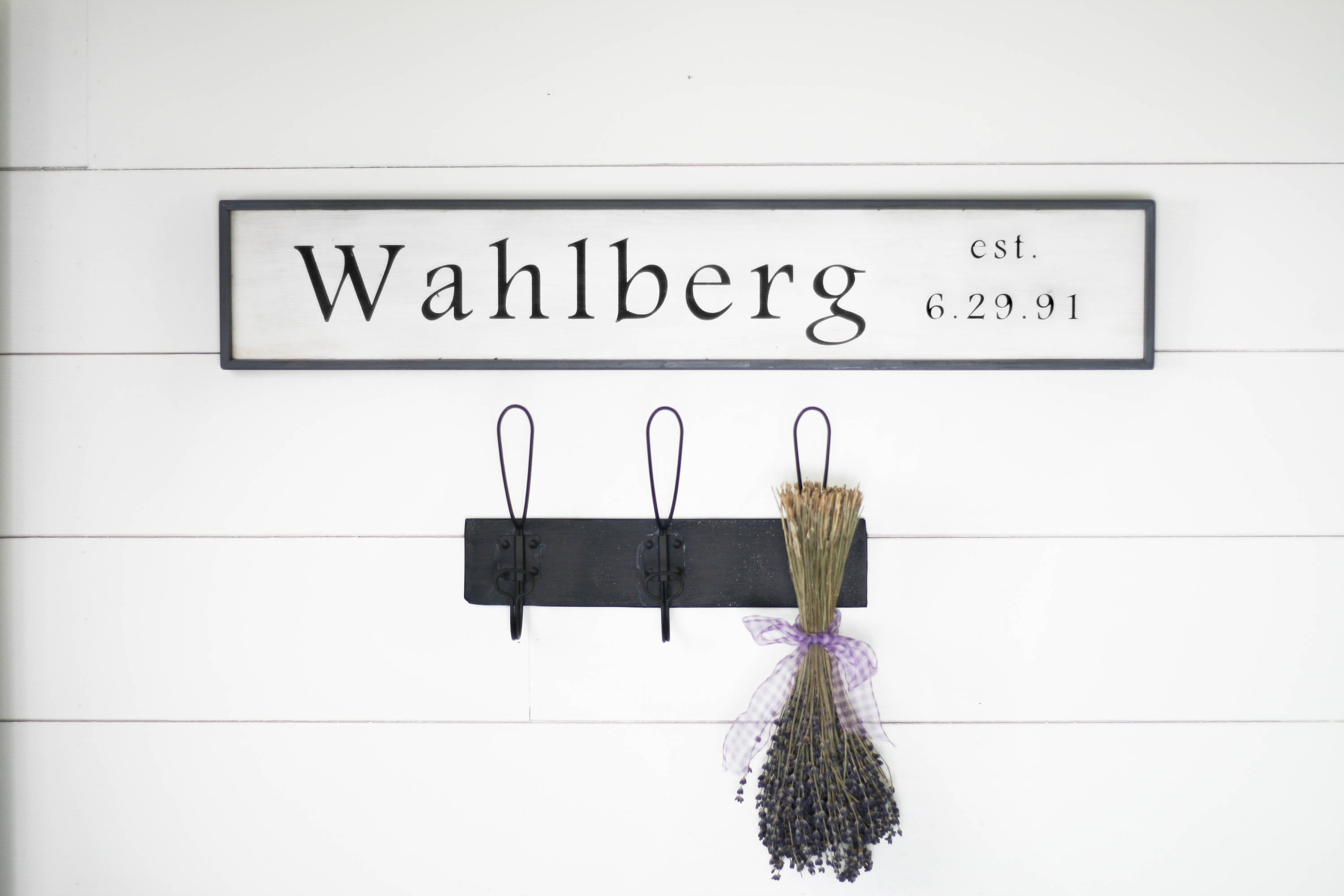 Family name, date, established - personalized sign [$42.00] - Wahl ...