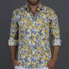 Men's Shirt The Kirra-Yellow
