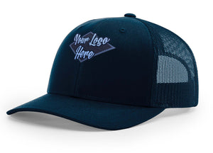 Woven Patch Navy Premium American Twill Cap with Snap Back Pro Styling