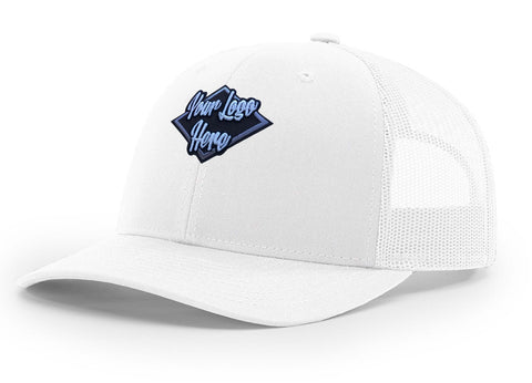 3D Patch White Premium American Twill Cap with Snap Back Pro Styling