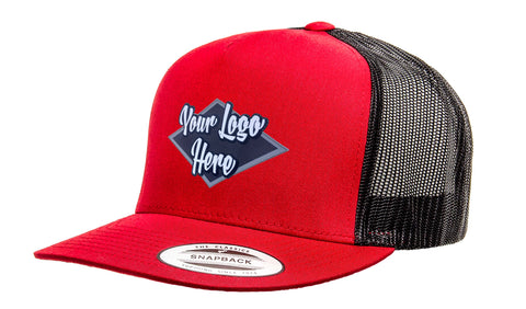 Leather Patch Yupoong Classic Trucker Two Tone Cap