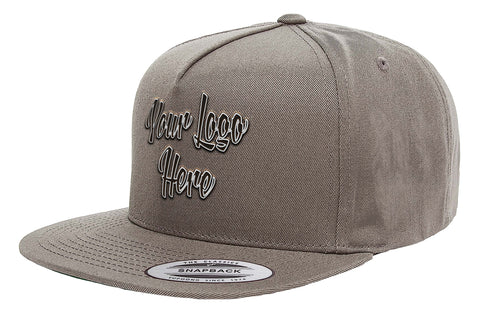3D Direct Patch Yupoong Classic 5 Panel Cap
