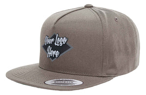 Leather Patch Yupoong Classic 5 Panel Cap