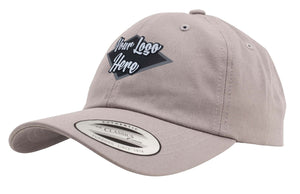 Leather Patch Yupoong Low Profile Cotton Twill Dad Hat