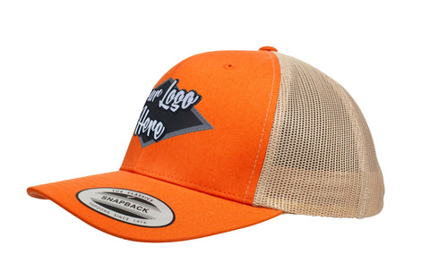 Leather Patch Yupoong Classic Retro Trucker Two Tone
