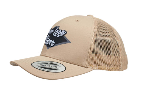 Leather Patch Yupoong Youth Classic Retro Trucker