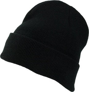 Embroidered Patch Parker Cuffed Fleece Beanie
