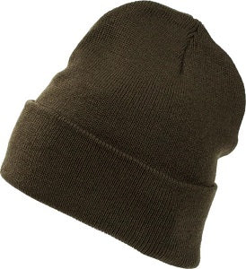 Embroidered Patch Parker Cuffed Beanie