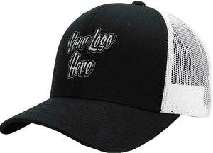 Direct Patch Cap Black/Grey Brushed Cotton with Mesh Back