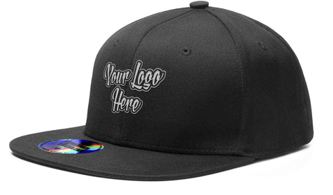 Direct Patch Black Cap Premium American Twill Cap with Snap Back Pro Styling