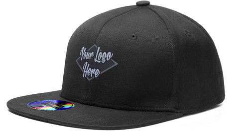 Woven Patch Black Cap Premium American Twill Cap with Snap Back Pro Styling