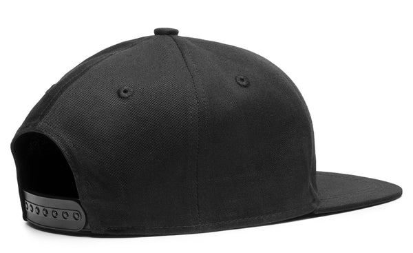 3D Patch Black Cap Premium American Twill Cap with Snap Back Pro Styling