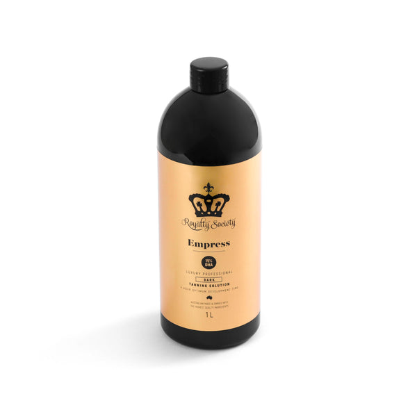 Royalty Society EMPRESS - Dark Professional tanning solution - Royalty Society TAN - Tan, Spray Tan, Sunless Tan Royalty Society - Melbourne, Australia Royalty Society - Royalty Tanning